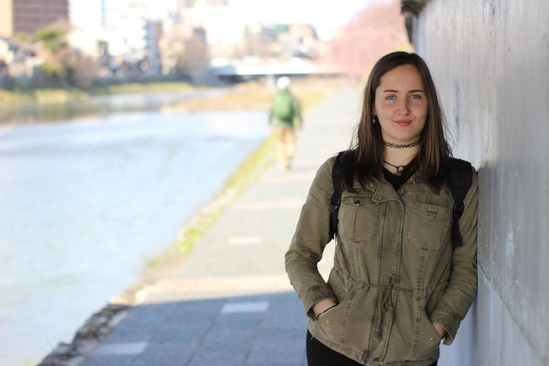 Swedish girl in Kyoto